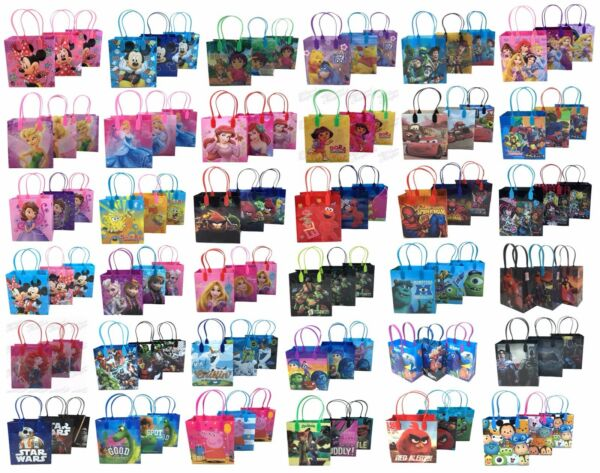(12) Disney Nickelodeon Birthday Goody Gift Loot Favor Bags Party Supplies