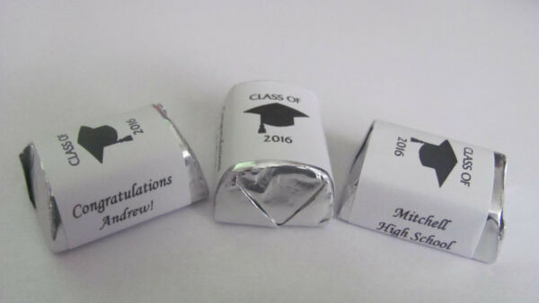 150 Personalized Class of 2018 Graduation Candy Hershey Nugget Labels Wrappers