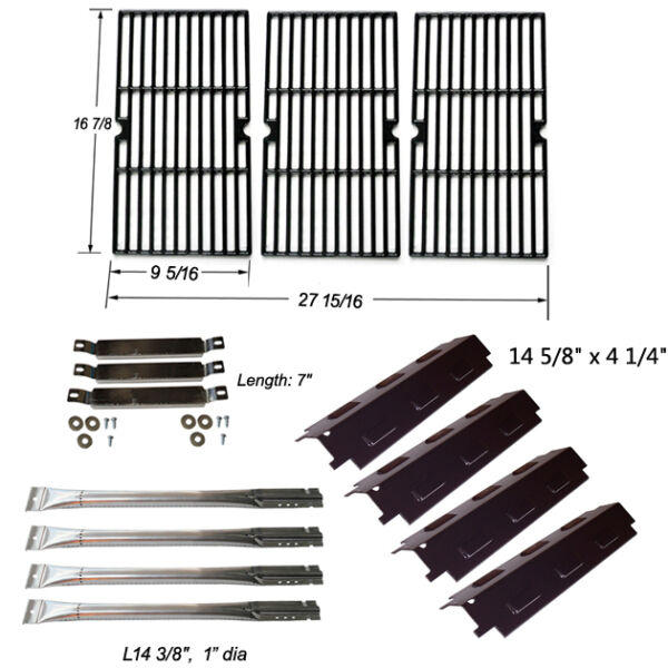 Charbroil 463440109 Replacement BurnersCarryover TubesHeat PlatesGrill Grates