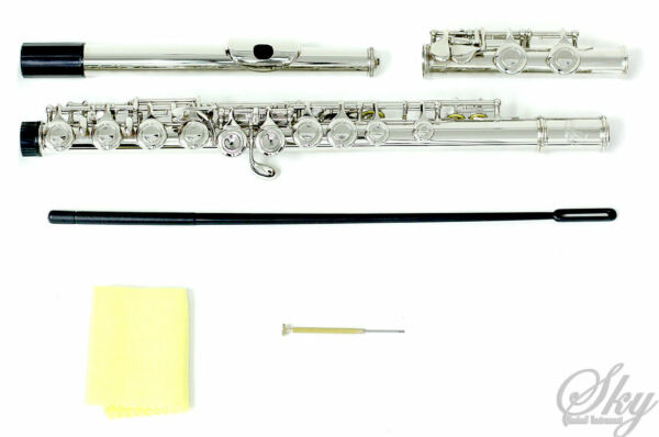 NEW SKY NICKELSILVER SCHOOL BAND C FLUTE wSplit E TOP QUALITY GUARANTEE!