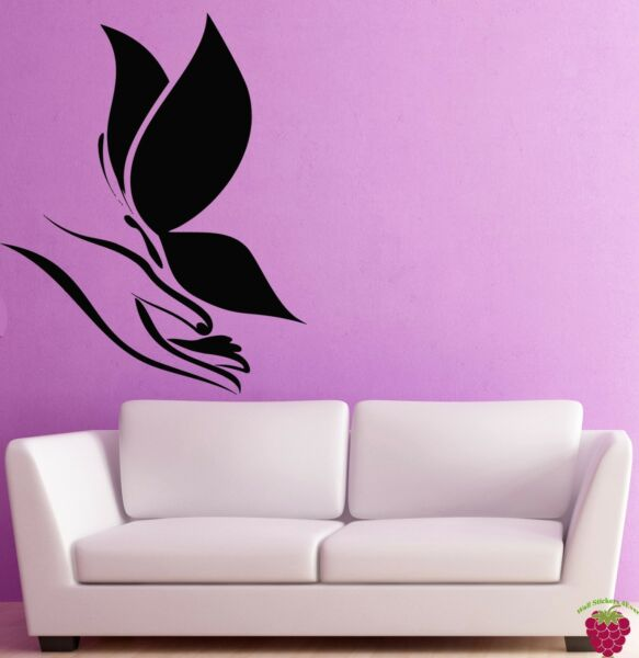Wall Stickers Vinyl Decal Hands Palms Butterfly Decor For Bedroom (z2008)