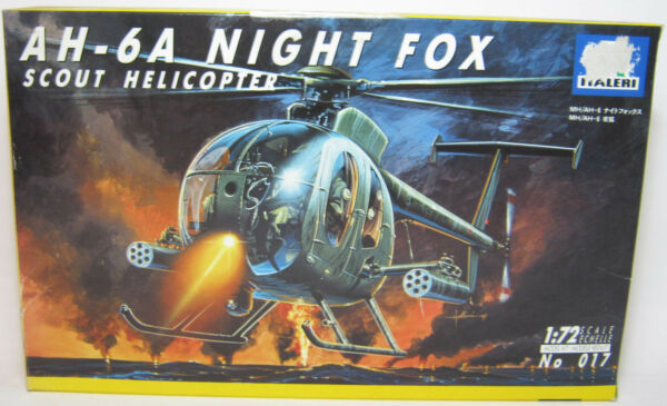 1:72 ITALIERI AH-6A NIGHT FOX SCOUT HELICOPTER MODEL KIT NEW