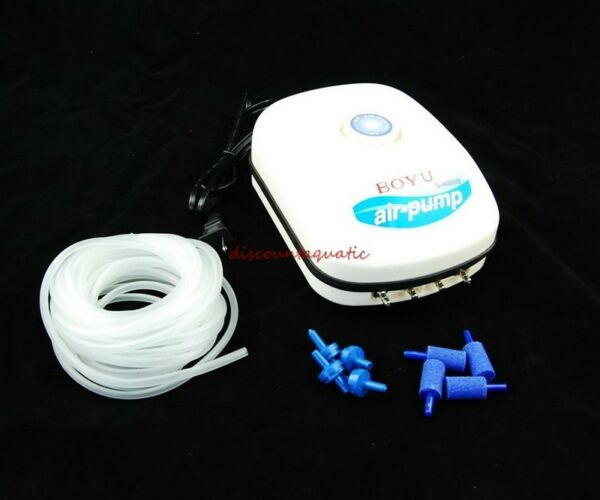 300Gal Aquarium Adjustable Air Pump 4 Air Stones 25 feet Tubing 4 Check Valve $28.99
