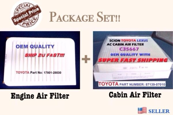 Engineamp;Cabin Air Filter For 07 17 CAMRY AND VENZA 4 Cylinder Fast Ship $12.25