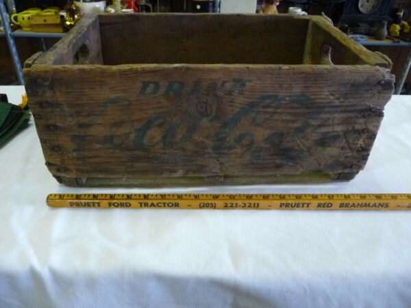 Earliest Vintage Drink Coca Cola  Wooden Carrier Crate Box--20 X 12 X 8.5 inches