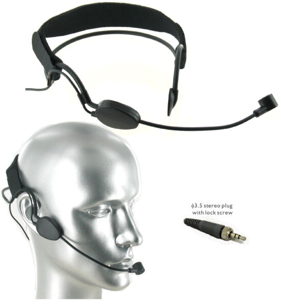 Controlled Frequency Range Noise Cancelling Headset Mic for Sennheiser Wireless