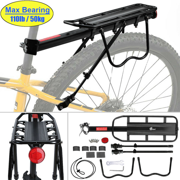 Bicycle Mountain Bike Rear Rack Seat Post Mount Pannier Luggage Carrier 110 Lb $29.99