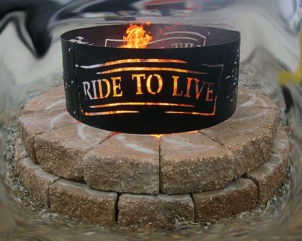 Motorcycle Fire Pit Live to Ridemotorcycles Harley fire ring outdoor living