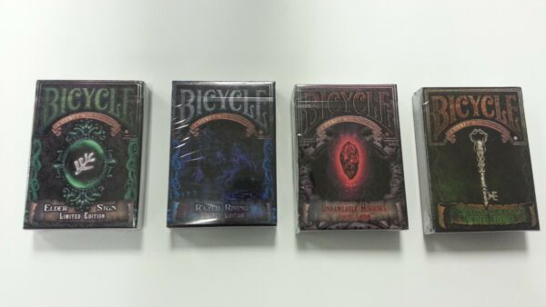 Set of 4 Bicycle Cthulhu Limited Edition Playing Card Decks New Sealed $50.45