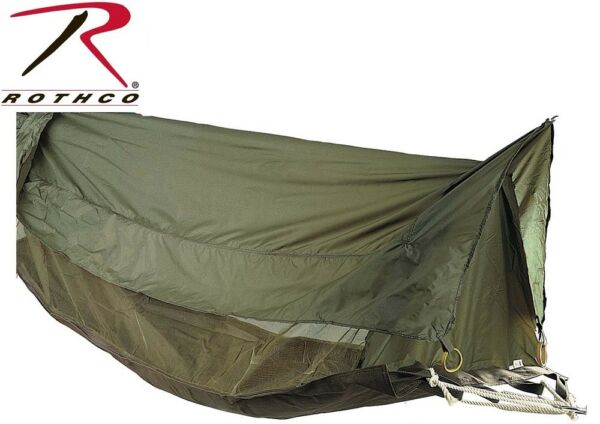 OD Green Military Style Jungle Hammock Mosquito Netting Screen amp; Rainfly 2361 $69.98