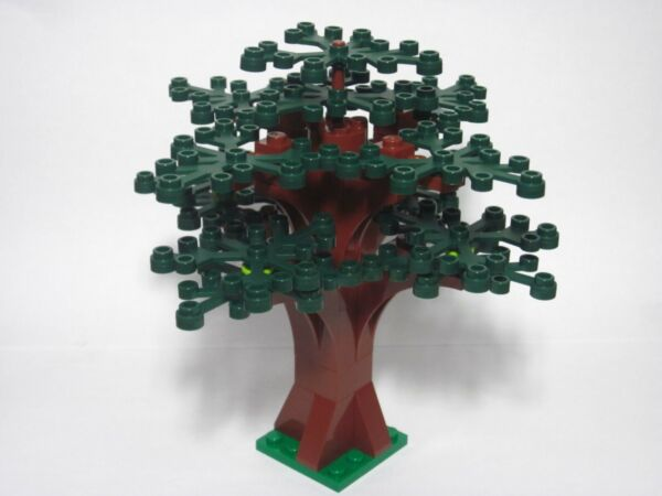 Custom forest tree for LEGO w 14 dark green leaves new parts FREE U.S. Ship