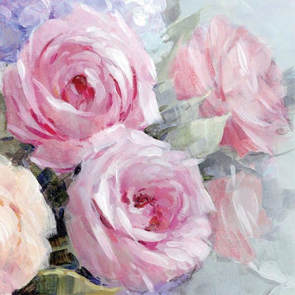 20 Paper Napkins JULIA Decoration DECOUPAGE SHABBY CHIC Pink Roses Lunch