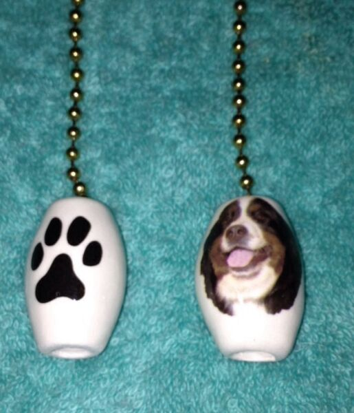 One Bernese Mountain Dog Fan Pull With A Paw Print On The Back 1