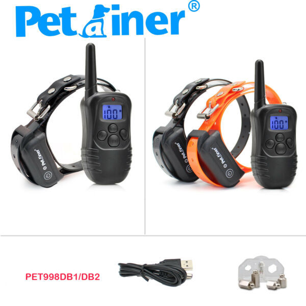 Petrainer Dog Shock Collar Rechargeable Remote Control Training Collar for Dogs $30.52