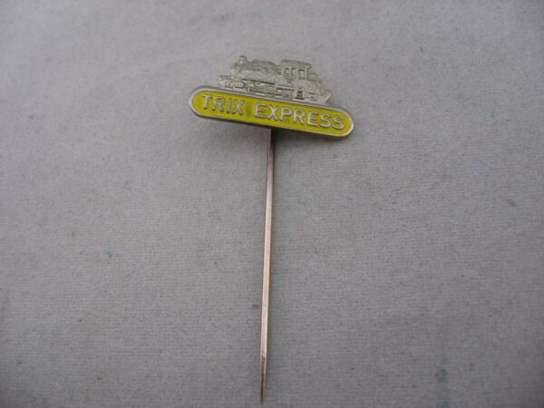 TRIX EXPRESS TRAIN RR Railroad Vintage Foreign Mens Hat Stick Pin Advertising