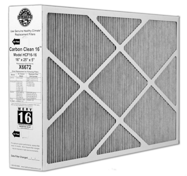 Lennox Carbon Coated X6672 Healthy Climate MERV 16 Filter $74.04
