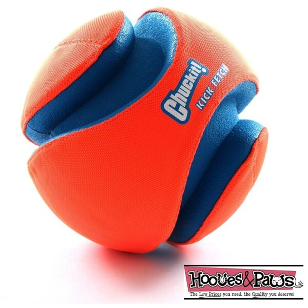 Chuckit Dog KICK FETCH Durable Canvas Toy Ball Will Not Deflate Small