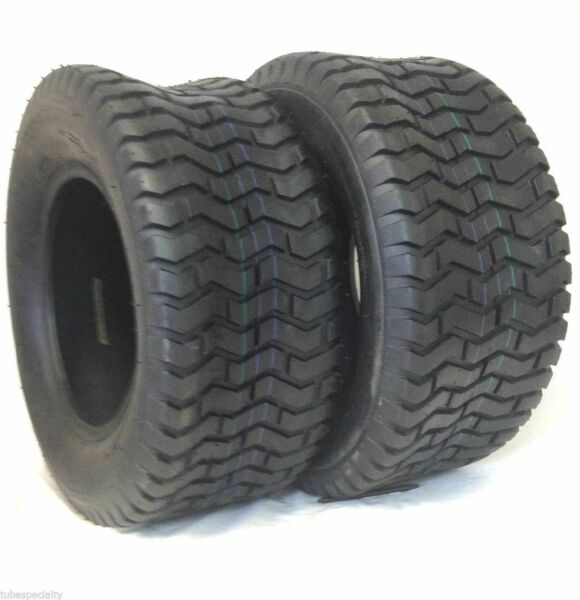 (2) New 16x6.50-8 TURF TIRES 4 Ply Tubeless John Deere Lawn Mower Tractor Rider