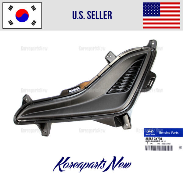 HOLE COVER FRONT BUMPER LEFT DRIVER 865633X700 HYUNDAI ELANTRA SEDAN 2014-2016