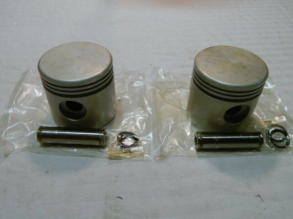 Vtwin MFG for Harley Replacement 74quot; Flat Top Pistons .070 Oversize FLH FX $245.95