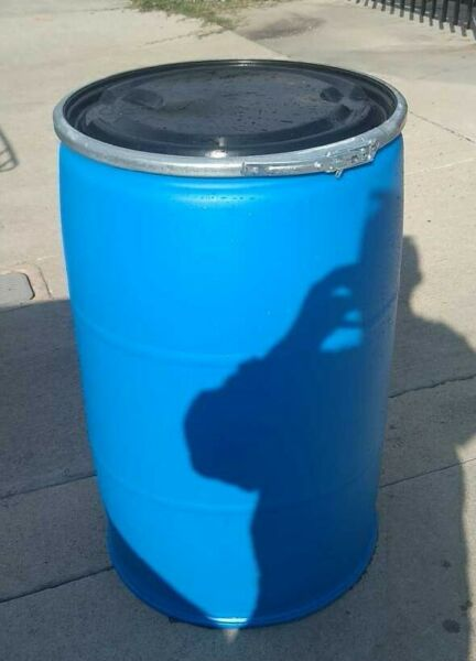 55 Gal Open Top Lever Lock Ring Barrels Plastic Drums Local Pickup $49.99
