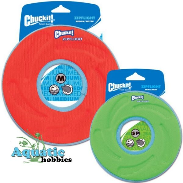 Chuckit! Zipflight Fly Float & Fetch Frisbee Toy For Dog & Puppy CHOOSE SIZE