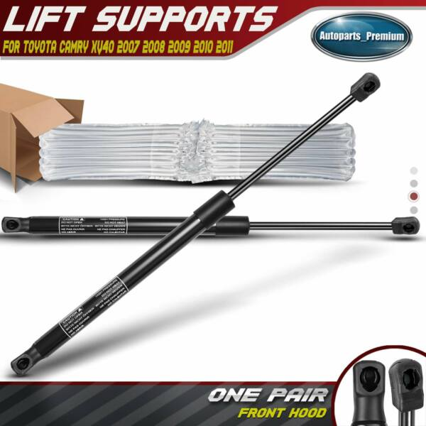 2x Front Hood Lift Supports Shocks Struts for Toyota Camry Sedan 2007 2011 6333