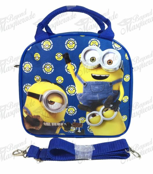 Minions Insulated Lunch Bag with Shoulder Strap + Color Pencils - Royal Blue