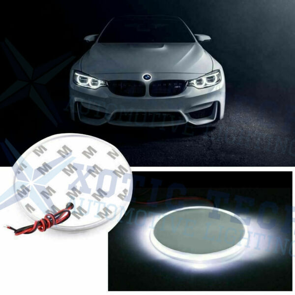 1x 82mm Emblem LED White Background Light For BMW 3 4 5 6 7 X M Z Series