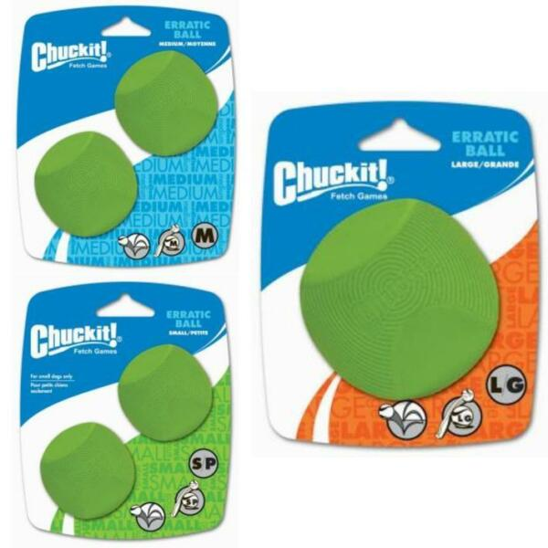 Chuckit! ERRATIC BALL Rubber Unpredictable Ball Fetch Dog Toy Fits Launcher