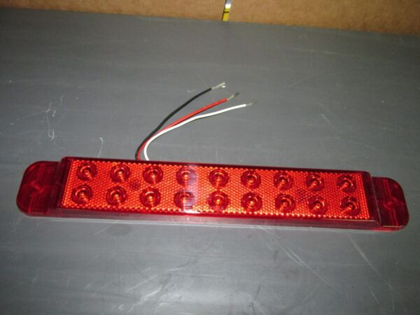 TRAILER BRAKE LIGHT 12quot; LED 18 Bulbs RV CAMPER TRAILER 3RD BRAKE LIGHT $9.95