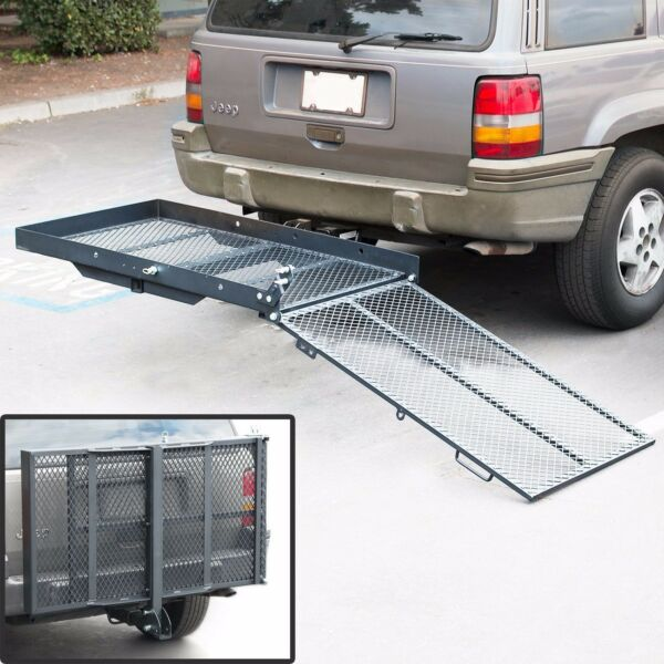 New Mobility Carrier Wheelchair Scooter Rack Disability Medical Ramp Hitch Mount $181.50