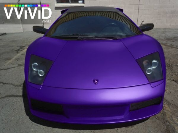 XPO Purple Satin Chrome Film Vvivid vinyl car wrap decal detail sti