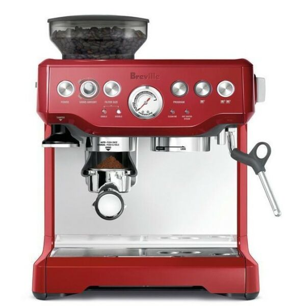 Breville BES870CRN the Barista Express™ Coffee Machine - Cranberry +BONUS TOWEL!