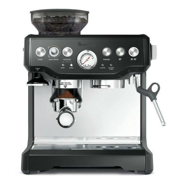 Breville BES870BKS the Barista Coffee Machine - Black + BONUS TOWEL!