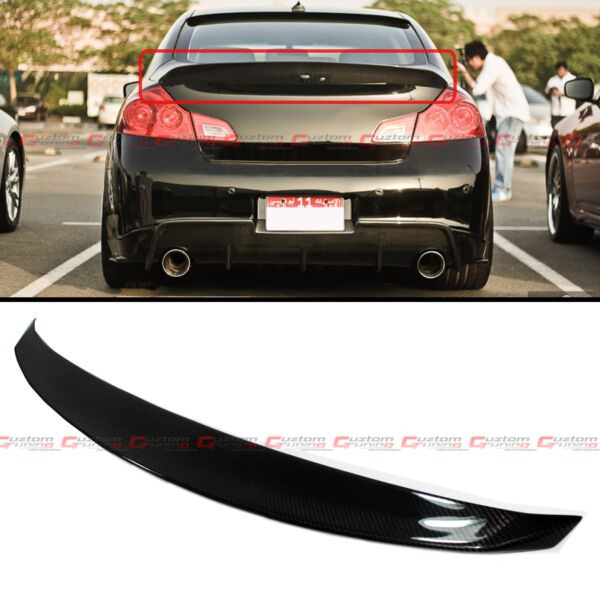 CARBON FIBER JDM STYLE REAR TRUNK SPOILER FOR 2009-2013 INFINITI G25 G37 SEDAN