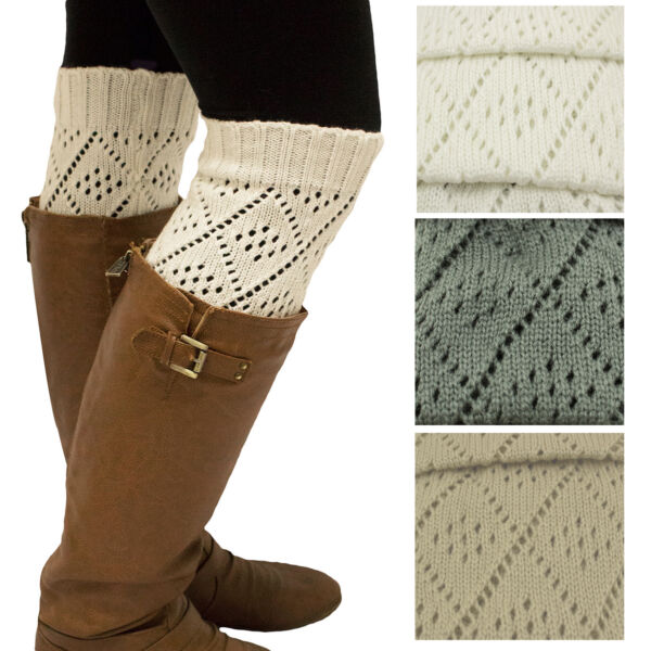 Winter Knitted Leg Warmers Over The Knee Boot Warmer Cuffs Knitted Warm Socks