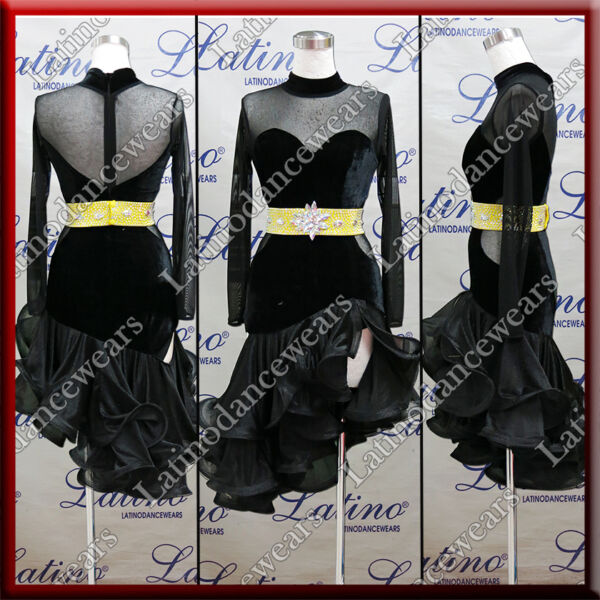 LATIN RHYTHM SALSA BALLROOM COMPETITION DANCE DRESS SIZE S M L LT922