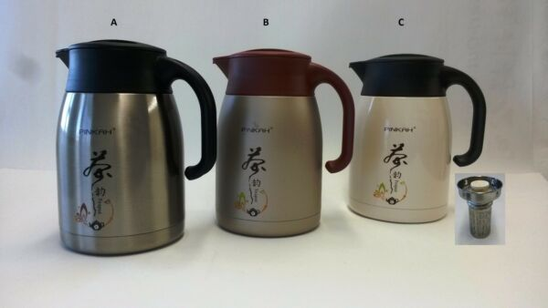Stainless Steel Vacuum Insulated Thermal Coffee Carafe Tea Pot W Filter Infusr