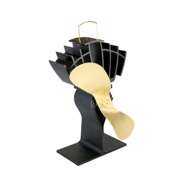 Caframo 810CABBX ECOFAN ULTRAIR HEAT POWERED WOOD STOVE FAN GOLD BLADE 810CA-BBX