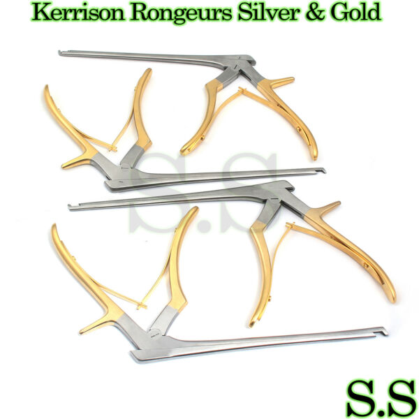 KERRISON Rongeurs Silver amp; Gold 1 2 3 4mm Cervical Orthopedic Surgical $97.40