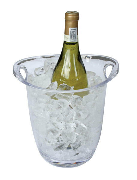 Plastic Acrylic Ice Bucket Wine Drinks Pail Cooler Champagne Display Clear Party