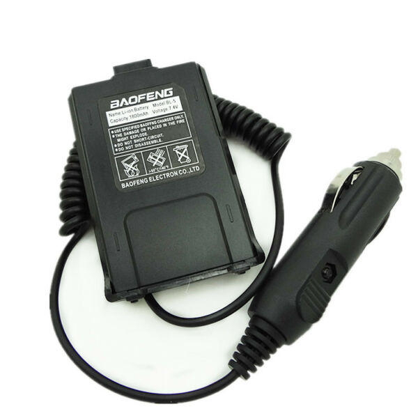 12V Car Charger Battery Eliminator Adapter For Baofeng UV5R UV 5RA E Plus Radio