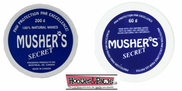 Musher's Secret Dog Paw Protection Wax Moisturizer Invisible Boot Pet Puppy Snow
