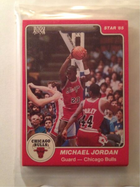 1984-85 Star Chicago Bulls Sealed Team Bag 101 Michael Jordan X RC Rookie card