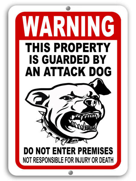 BEWARE OF DOG Sign Attack Dog on Duty Guard Dog 8quot;x 12quot; Aluminum Metal Warning $9.99