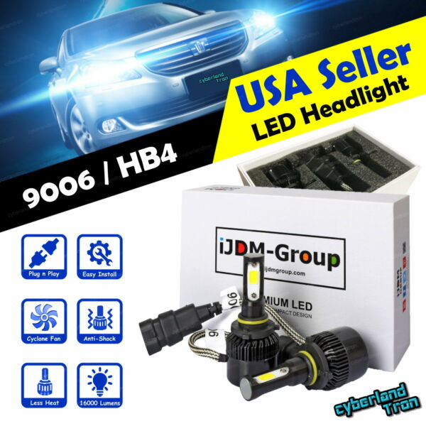 2x 9006 HB4 LED Headlight COB Fog Light Bulb Low Beam Replacement 6000K White