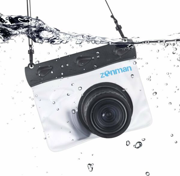 Zonman Waterproof Universal Case Housing for Mirrorless Micro 4/3 Cameras -Clear