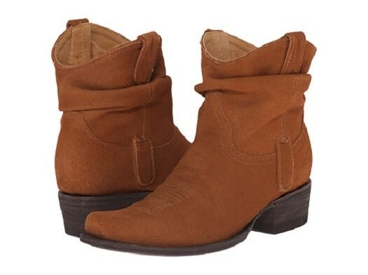 New in Box Womens Old Gringo Yippee Kay Yay CAIDO Ankle Boots Rust Suede $260