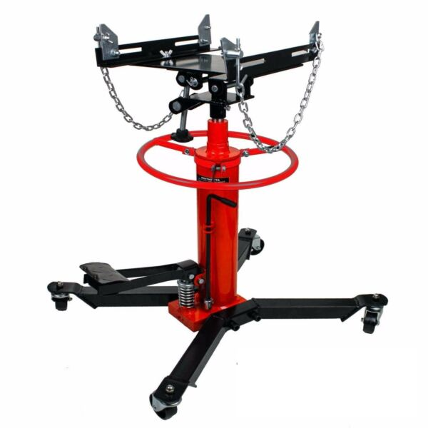 1660lbs 0.75Ton Transmission Jack 2 Stage Hydraulic w 360° for car auto lift